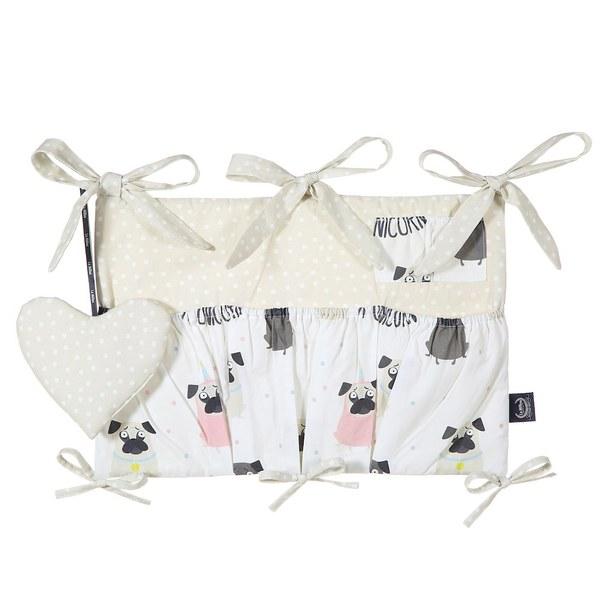 La Millou 拉米洛北歐風_嬰兒床頭掛包掛袋-小巴哥憂憂