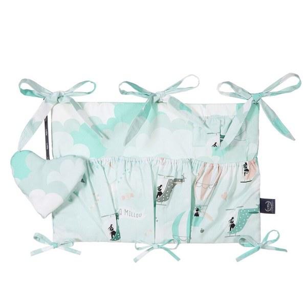 La Millou 拉米洛北歐風_嬰兒床頭掛包掛袋-法鬥小甜心