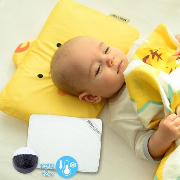 Milo & Gabbyy 動物好朋友-超涼感排汗抗菌黑米枕心+枕套組(DUKE小鴨)