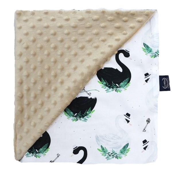 La Millou 單面巧柔豆豆毯(加大款)-柴可夫天鵝(焦糖密斯朵)