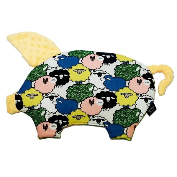 La Millou 豆豆小豬枕-朵朵綿羊糖(清恬芒果黃)