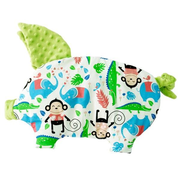 La Millou 豆豆小豬枕-歡樂拉拉猴(香草綠薄荷)