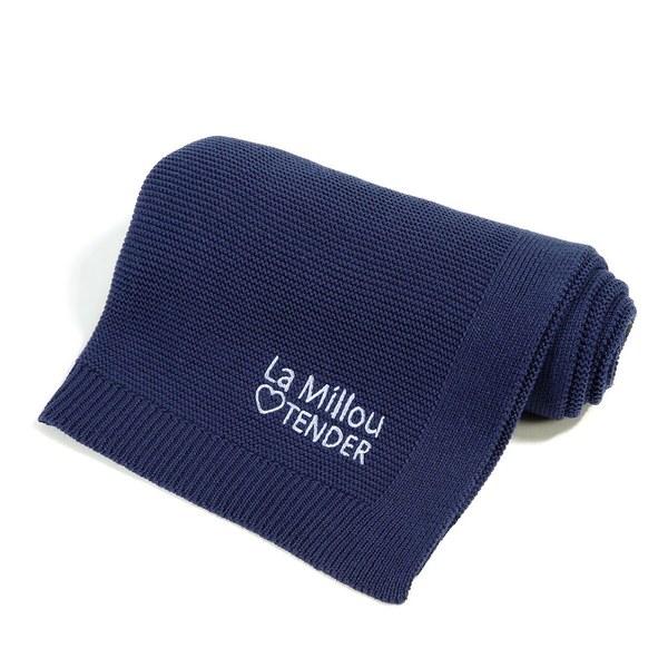 La Millou Tender針織毯-勇氣海軍藍