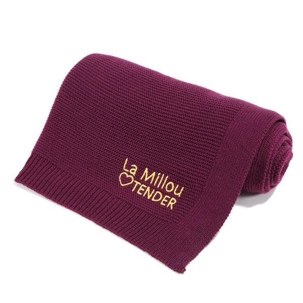 La Millou Tender針織毯-沁甜莓果紅