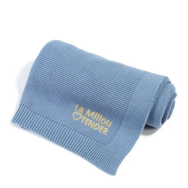 La Millou Tender針織毯-蒙地卡羅藍