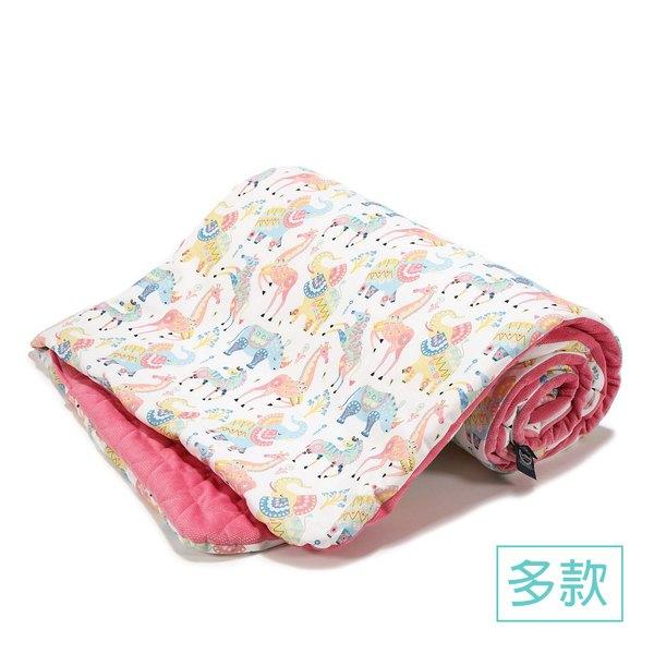 La Millou Velvet頂級棉柔系列雙面柔柔毯加大-叢林鸚鵡-舒柔墨綠