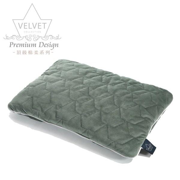 La Millou Velvet頂級棉柔系列-小童方枕30x40cm(舒柔墨綠)