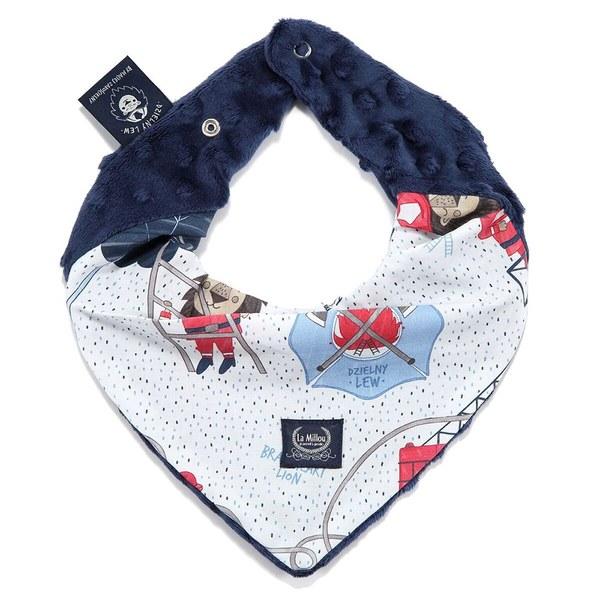La Millou 豆豆圍兜領巾-打火小英雄(藍底)-勇氣海軍藍