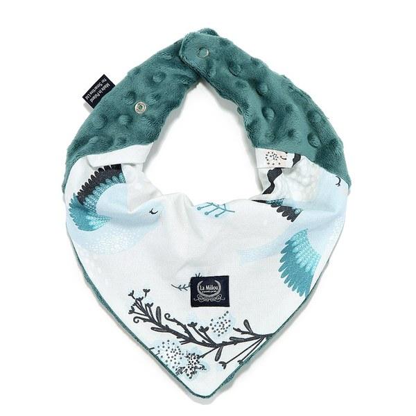 La Millou 豆豆圍兜領巾-藍色雪鳥(藍綠愛琴海)