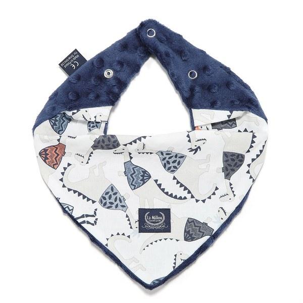 La Millou 豆豆圍兜領巾-搖滾侏儸紀(勇氣海軍藍)