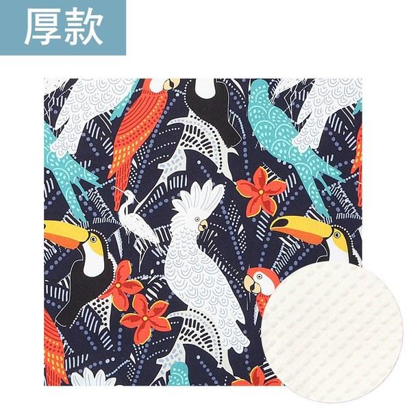 暖膚豆豆毯大人款140*220cm-華麗鸚鵡(雲朵白)