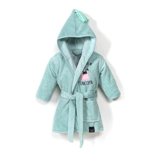 La Millou Jersey 時尚篷篷睡袍浴袍_標準6M-2.5Y- 小巴哥憂憂(粉嫩糖果綠)