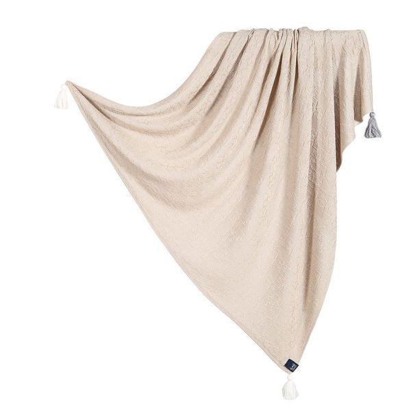 La Millou竹纖針織毯_純色款(焦糖密斯朵)