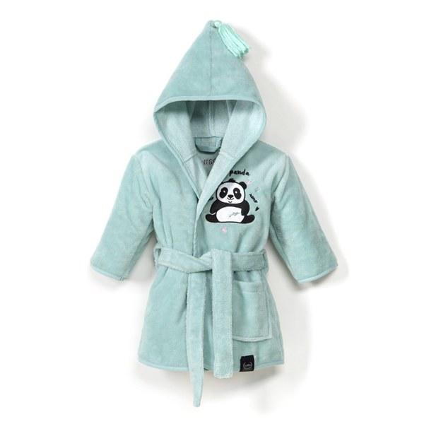 La Millou Jersey 時尚篷篷睡袍浴袍_標準6M-2.5Y- 胖達功夫熊(粉嫩糖果綠)