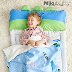 Milo & Gabby動物好朋友-三合一超透氣輕薄午睡組80*130cm (好萊塢Dylan恐龍)