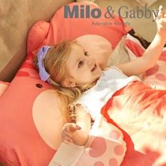 Milo&Gabby 動物好朋友-三合一超柔軟四季睡袋 (LUCY松鼠)