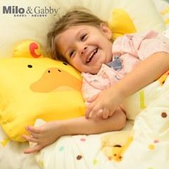 Milo & Gabby 動物好朋友-超細纖維防蹣抗菌mini枕心+枕套組(DUKE小鴨)
