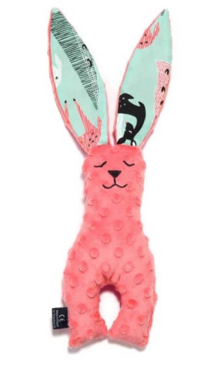 La Millou豆豆安撫兔耳朵可當口水巾馬蹄身形訓練手部抓握肌肉
