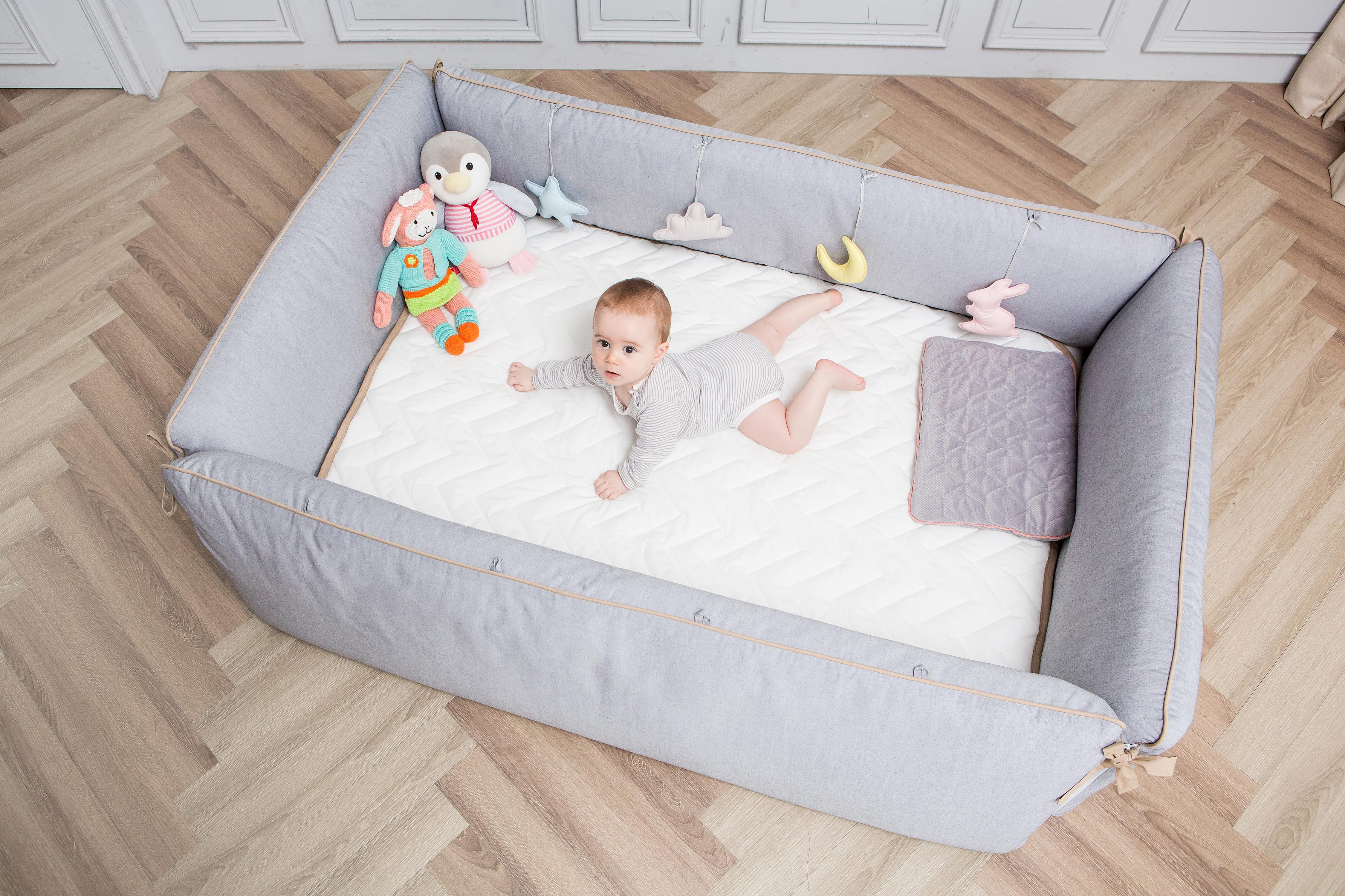 gunite嬰兒床一體成形不卡手腳